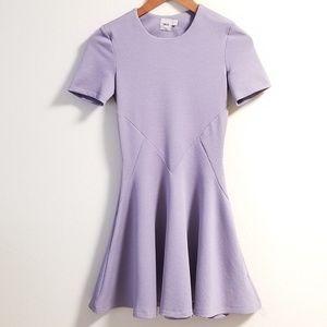 ASOS Lavender Textured Flare Dress